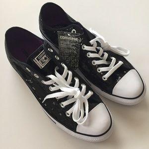 Converse Black Sequined Unisex Sneakers